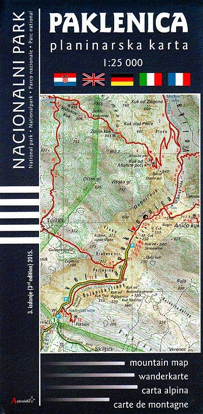 Maps Paklenica National Park Mountain Map 1 25 000 Fanoutdoor Com